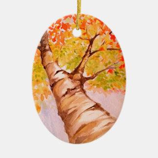 Autumn Tree Ceramic Oval Decoration