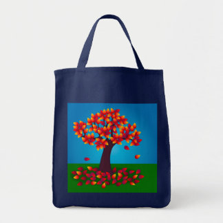 Autumn Tree Grocery Tote