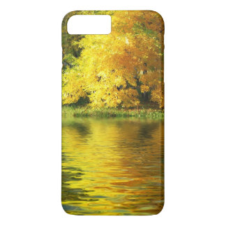 Autumn tree in the forest with reflection iPhone 7 plus case