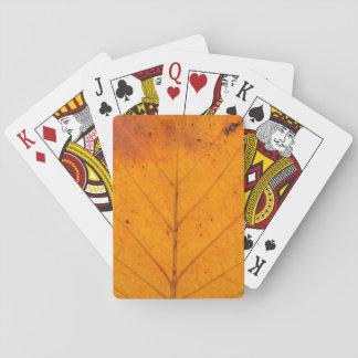 autumn tree leaf texture pattern background nature poker deck