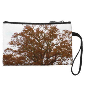 Autumn Tree Leaves Sky View Photo Wristlet Purses