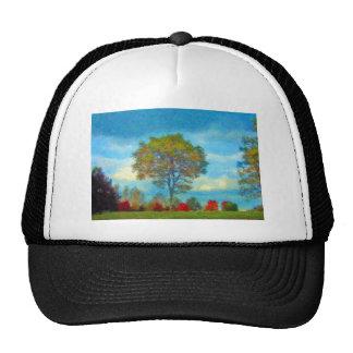 Autumn Tree Painting Mesh Hat