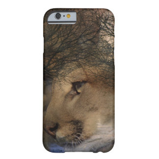 Autumn tree silhouette mountain lion wild cougar barely there iPhone 6 case