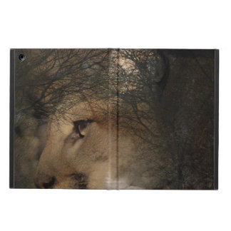 Autumn tree silhouette mountain lion wild cougar iPad air case