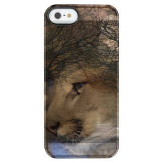 Autumn tree silhouette wildlife cougar clear iPhone SE/5/5s case