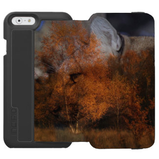 Autumn tree silhouette wildlife cougar incipio watson™ iPhone 6 wallet case