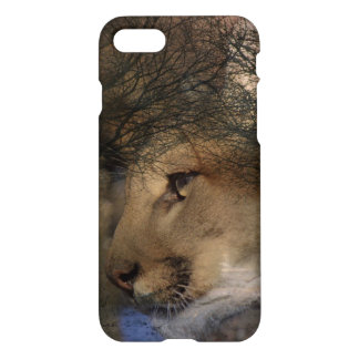 Autumn tree silhouette wildlife cougar iPhone 8/7 case