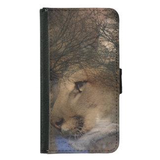 Autumn tree silhouette wildlife cougar samsung galaxy s5 wallet case