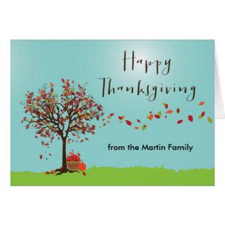 Autumn Tree Thanksgiving Card