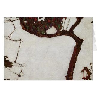 Autumn Tree with Fuchsias Card