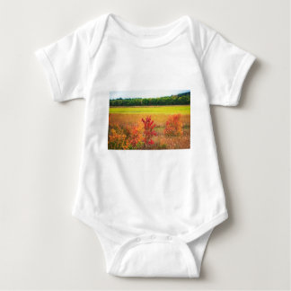 Autumn Trees at Great Meadows Baby Bodysuit