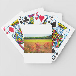 Autumn Trees at Great Meadows Bicycle Playing Cards