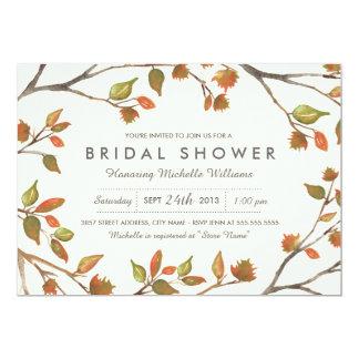 Autumn Trees Bridal Shower 13 Cm X 18 Cm Invitation Card
