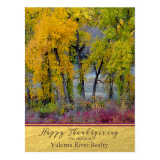 Autumn Trees Business Thanksgiving Postcard