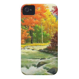 Autumn Trees By The River iPhone 4 Cover