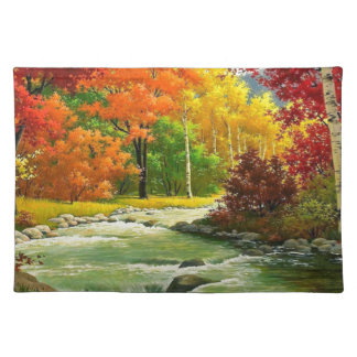 Autumn Trees By The River Placemat