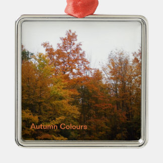 Autumn Trees for Your Family Christmas Tree Metal Ornament