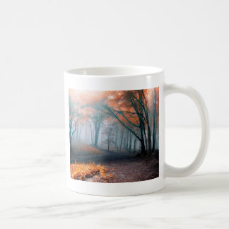 Autumn Trees in Woods Coffee Mugs