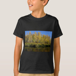 AUTUMN TREES MIRRORED IN WATER T-Shirt