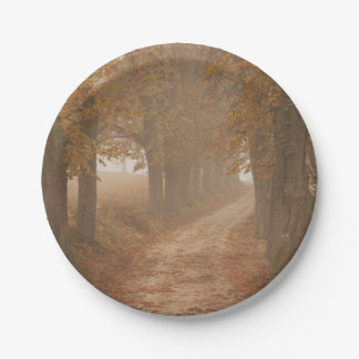 Autumn Trees Paper Plate
