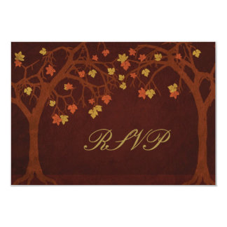 Autumn Trees RSVP Response Card