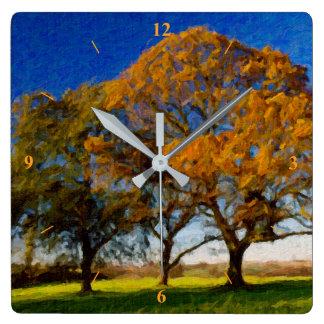 Autumn Trees Wallclocks