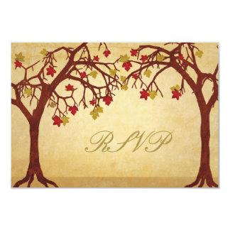 Autumn Trees Wedding RSVP Response Card