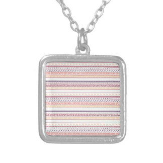 Autumn Tribal Silver Plated Necklace