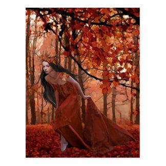 Autumn Tryst Postcard