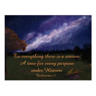 Autumn Under the Milky Way Postcard