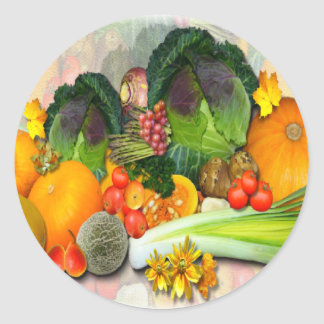 AUTUMN VEGETABLES ~ Envelope Sealers / Stickers