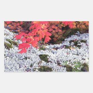 Autumn Vine Maple And Lichens Rectangular Sticker