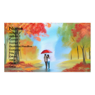 Autumn walk business card templates