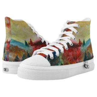 Autumn Watercolor Art Shoes