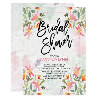 Autumn Watercolor Floral Bridal Shower Invitation
