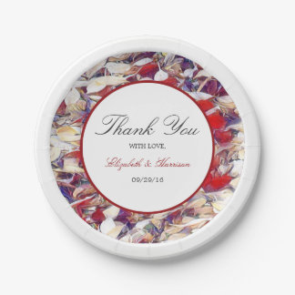 Autumn Watercolor Leaf Wedding 7 Inch Paper Plate