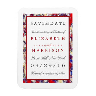 Autumn Watercolor Leaf Wedding Save The Date Rectangular Photo Magnet