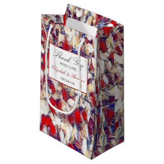 Autumn Watercolor Leaf Wedding Small Gift Bag