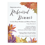 Autumn Watercolor Leaves Rehearsal Dinner 11 Cm X 16 Cm Invitation Card
