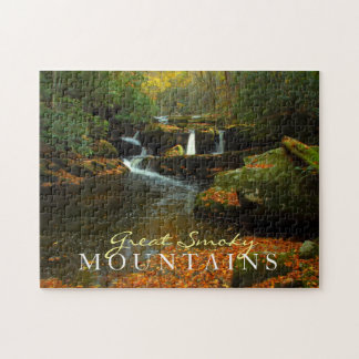 Autumn waterfall - Great Smoky Mountains puzzle