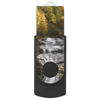 Autumn Waterfall Swivel USB 2.0 Flash Drive