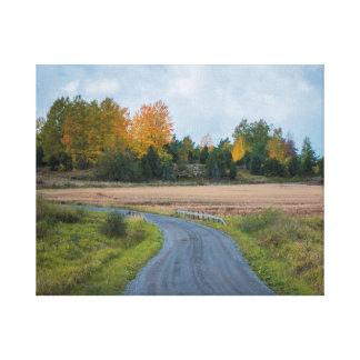 autumn way canvas print