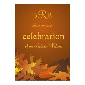 Autumn Wedding Celebration Invitation - Custom