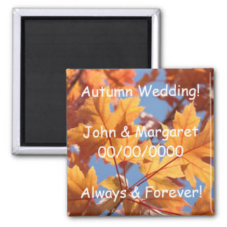Autumn Wedding! magnet Custom Names Date