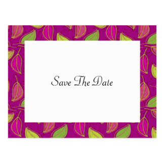 Autumn Wedding Save The Date Postcard