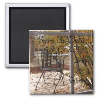 Autumn Wedding Save the Date Square Magnet