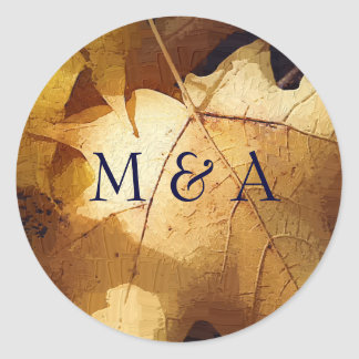 Autumn wedding stickers