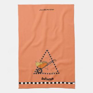 Autumn Wheelbarrow Tea Towel
