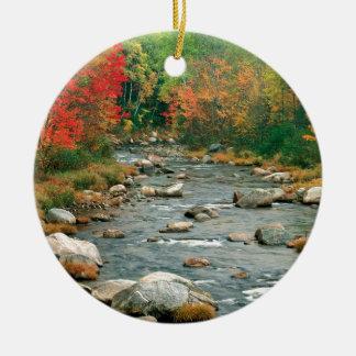 Autumn White Mountains New Hampshire Ceramic Ornament