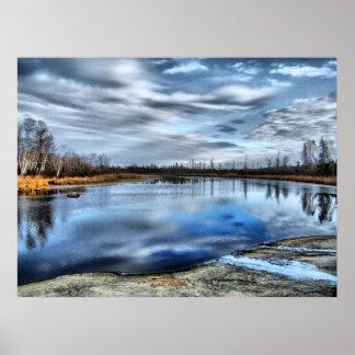 Autumn Whiteshell River Poster